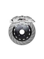 Jpm Forged Rs Brake 6pot Anodized Silver 15 Drill Disc For E90 E92 M3