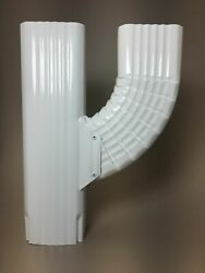 Downspout Gutter Y Connector 2x3 Upright High Gloss White