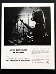 1948 Vintage Print Ad 40's BELL TELEPHONE SYSTEM Switchboard Operator Image