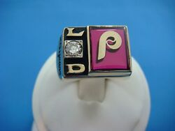 Phillies 25 Years 23.9 Grams Heavy Collectible And 0.25 Ct Vs Diamond Ring