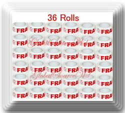 36 Rolls 2 X 110 Yds Fragile Seal Packing Tape If Seal Is Broken