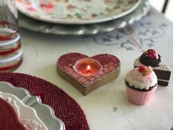 Pier 1 Pair Of Valentineand039s Day Tiled Heart Votive Holders Sold Out