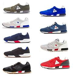 Le Coq Sportif Omega X Sport And Nylon Trainers In Blue And Grey 181f079 And 181f085