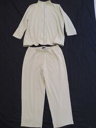 New Women's Sag Harbor Sweat Suit Jacket And Pants Mint Green Studded Plus Size 3x