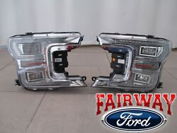 18 thru 19 F-150 OEM Genuine Ford Chrome LED Head Lamps Lights - PAIR of RH