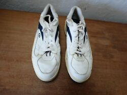 Vintage Dexter Dry Sports Golf Shoes Size 11.5 M White Leather Made In Usa