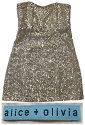 Sheryl Crow Personally Worn Gold Sequined Party Dress