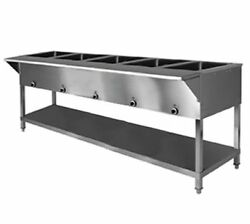 Klingerand039s All Stainless Steel 5 Well Electric Steam Table Wet/dry Kti Sw-5h-240