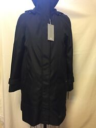 Andrew Marc New York Caroll Raincoat Jacket W/ Zip Out Liner Black Nwt 247 S ,m