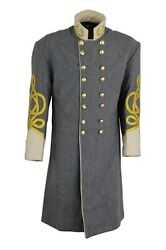 Confederate Frock Coat Officers Double Breastedwhite Size 34 -54 New