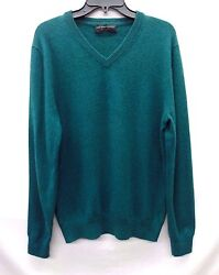 The Menand039s Store At Bloomingdaleand039s Cashmere V-neck Sweater Emerald S