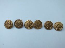 Lot Of 6 General Staff Officerand039s Uniform Buttons Waterbury Button Co. 5/8