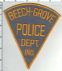 Beech-grove Police Indiana 6-inch Shoulder Patch - New From The 1980and039s