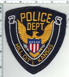 Hill City Police Kansas Uniform Take-off Shoulder Patch From The Early 1980's