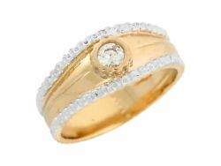 10k Or 14k Real Gold White Cz Classic Simplicity Ladies Wedding Engagement Ring
