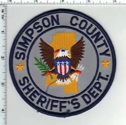 Simpson County Sheriff Mississippi 2nd Issue Shoulder Patch