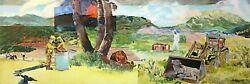 Bought The Farm 4 Unfinished Oil On Canvas By Micah Myerovandnbsp 24 X 72
