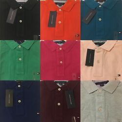 Tommy Hilfiger Polo Shirt Mens Classic Fit Mesh Knit Short Sleeve Casual $29.95