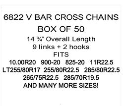 Super Special 50 Snow Tire Chain V Bar 14.75 Cross Link Chains Section 2