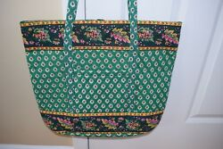 Vera Bradley Greenfield Extra Large Grand Tote Travel Beach Bag-NEW!