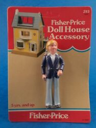 Unopened - Fisher Price - Dolls House Accessory - Father 1983 Carded Approx 4