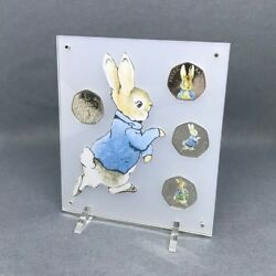 Peter Rabbit 2018 50p, Beatrix Potter Collection Coin Display Frosted