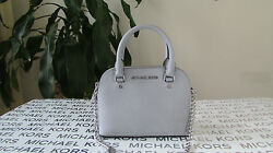 NWT Michael Kors Saffiano Leather Cindy Mini Satchel Crossbody Dove