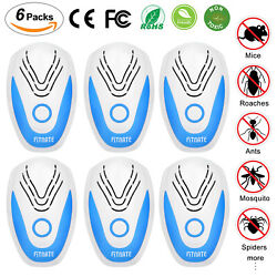 6 Pack Ultrasonic Pest Repeller And Bug Zapper Insect Fly Killer Safe Eco-friendly