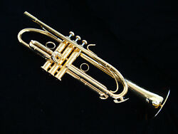 Professional Germany Brass Trumpet Gold Plated Bb Horn Monel Valves With Case