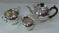 Rare Matched Bachelorand039s Tea Set In Cape Pattern - London 1779-84