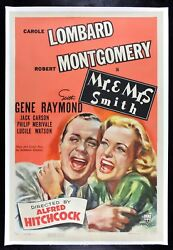 Mr And Mrs Smith ✯ Cinemasterpieces Original Movie Poster Alfred Hitchcock 1941