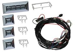 1968 Chevelle Gto Nu-relics Power Window Kit Chrome Switches Door Placement