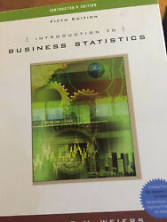 Introduction To Business Statistics, 5th Edition By Weiers Instructor's Edition