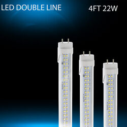 AIEASY T8 4FT LED Tube Dual-End Powered 22W Clear Cover Double Line 288pcs lamps