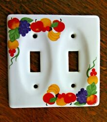 Switch Covers Light Wall Plate Cover Decorative Fruit Double Toggle Fit Ceramic