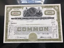 Nickel Rate Railroad Company Stock Certificate 100 Shares From October 1951