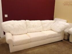 Pottery Barn Basic Couch Left Arm Return Sofa Sectional No Slipcover Down