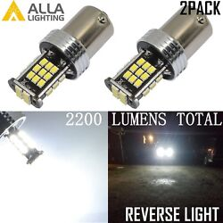 Alla Lighting 1156 6000k 30-led Back Up Reverse Lights Backup Bulbs Lampswhite
