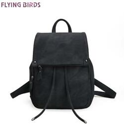 FLYING BIRDS Women Backpacks Fashion PU leather School Bags For Teenagers Girl D