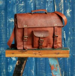 Fair Trade Handmade Large Brown Vintage Leather Satchel - 2nd Quality