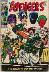 The Avengers # 60 John Buscema Marvel 1960s Hawkeye The Vision Black Panther