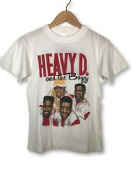 Vintage 80and039s Heavy D And The Boys Livin Large White Rap Tee T-shirt