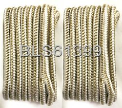 2 White And Gold Double Braided 3/8 In X 15and039 Ft Hd Boat Marine Dock Line Ropes