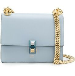 FENDI  KAN I SMALL LYBERTY BLUE SKY CHAIN STRAP BAG 8M0381A1FAF12SP