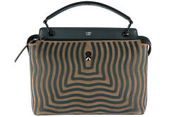 FENDI WOMEN'S LEATHER HANDBAG SHOPPING BAG PURSE NEW DOT COM CAMOSCIO HYPNOT 00F