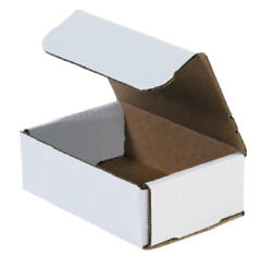 1-200 Choose Quantity 6x4x2 Corrugated White Mailers Packing Boxes 6 X 4 X 2