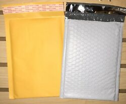 Choose Quantity 1-2000 Of Kraft Or Tuff Bubble Mailers All Sizes 0 2 000 6x10