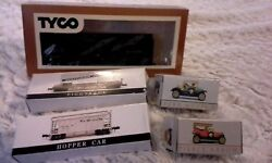 Vintage Lot Miniature Cars Train In Box Collectible Toys Model Transportation
