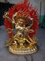 40'' China Bronze Vajrapani Protector Buddha Gilt Statue Sculpture