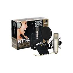Rode NT1-A Cardioid Condenser Microphone w LyxPro Headphone and Desk Stand